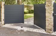 portail plein ou semi-ajouré aluminium
