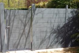 Cloture de jardin avec portillon alu ALULINE.