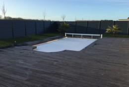 Cloture jardin en pourtour de piscine.