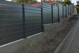 Cloture jardin aluminium Alujour persienne