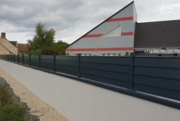 Clôture alu Alujour couvertine aluminium