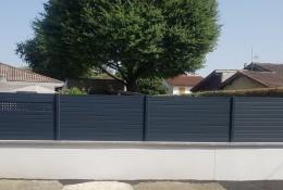 Clôture jardin aluminium Alulam lame ellipse