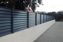 Claustra aluminium aluclos sur muret