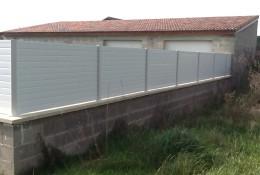 Barriere de jardin en ALULAM blanc.