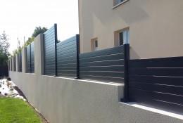 Cloture jardin en claustra aluminium alulam.