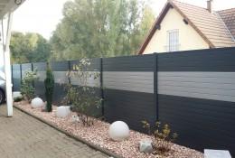 Cloture jardin en panneau aluminium alulam.