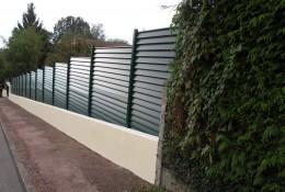 Brise vue jardin en claustra aluminium aluclin.