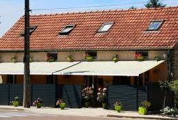 Panneau brise vue alu terrasse restaurant