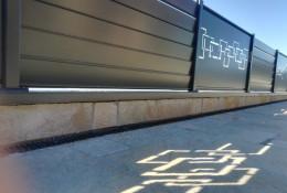 Cloture alu Alujour avec panneau decoupe laser