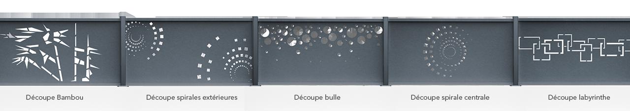 Claustra aluminium pour cl ture d 39 ext rieur aluclin au for Prix des portails en pvc